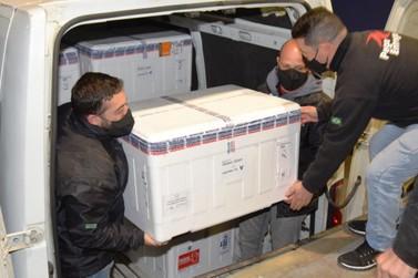 Saúde confirma o envio de mais 453,7 mil vacinas contra a Covid-19 ao Paraná