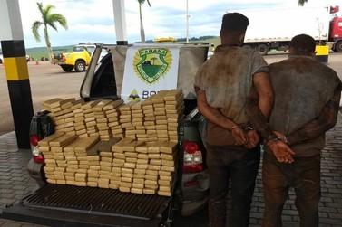 Jovens são presos com 100 kg de maconha após perseguição na PR-323