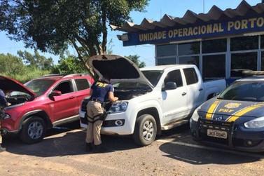 PRF recupera em Porto Camargo três caminhonetes roubadas