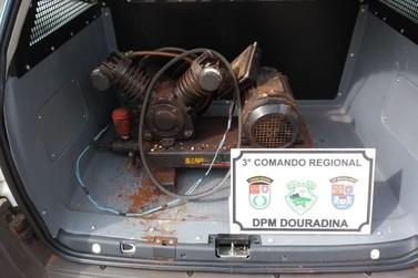 Três homens são presos após furto de motor em Douradina