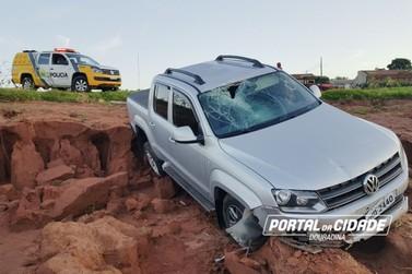 Após acompanhamento tático, PM de Douradina recupera caminhonete roubada