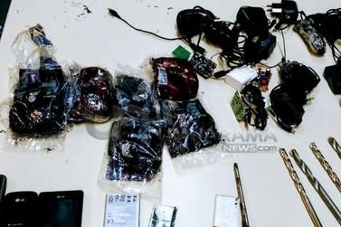 Brocas e celulares são apreendidos na Penitenciária de Cruzeiro do Oeste