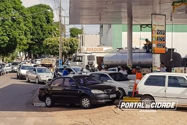 Combustível começa chegar aos postos; veja situação em Douradina
