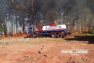 Incêndio atinge propriedade e assusta moradores em Douradina