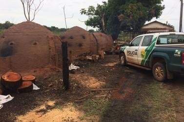 Polícia Ambiental fecha carvoaria ilegal em Santa Isabel do Ivaí