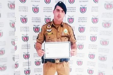 Policial de Douradina é condecorado pela Assembléia Legislativa do PR