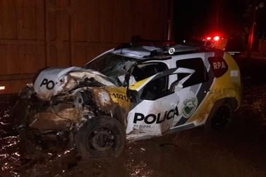Policial militar fica ferido em grave acidente na região
