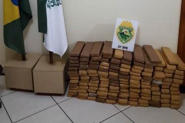 Mais de 100 quilos de maconha são apreendidos na zona rural de Pérola
