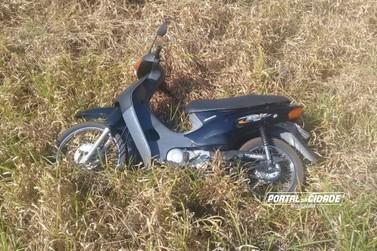 Moto furtada em Douradina é recuperada pela PM horas depois na saída da cidade