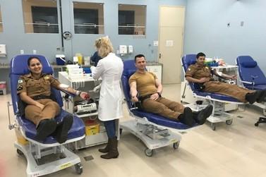 Policiais Militares de Cruzeiro do Oeste realizam campanha de doação de sangue
