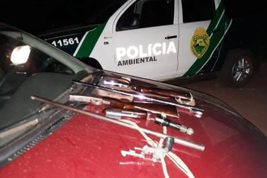 Suspeitos de serem caçadores são presos com armas em Alto Piquiri
