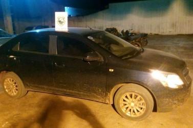 Carro é recuperado após assalto a família de Querência do Norte