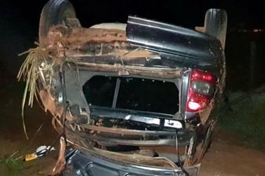 Veículo capota e mata motorista entre Icaraíma e Alto Paraíso