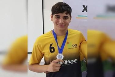 Atleta de Douradina é destaque nas disputas de xadrez nos jogos do IFPR