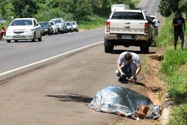 Homem de 30 anos morre atropelado em rodovia de Umuarama