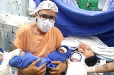 Mulher dá à luz a quadrigêmeos em Mandaguari