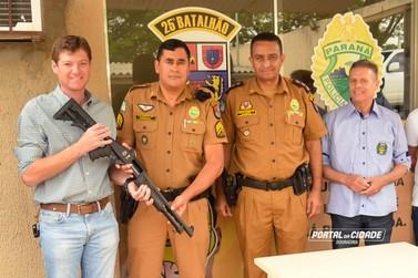 Polícia Militar de Douradina a partir de hoje usará arma calibre 12
