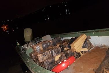 PF apreende mais de 300 quilos de maconha no Rio Paraná