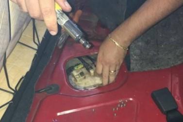 PRE encontra crack em tanque de combustíveis de carro de família