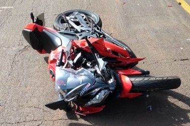 Motociclista fica ferido após acidente entre Douradina e Santa Felicidade