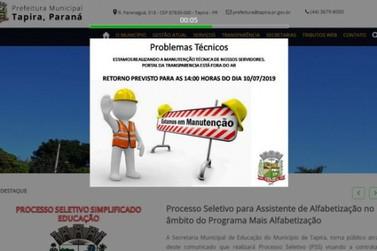 """Hackers invadem sistema da Prefeitura de Tapira e """"sequestram"""" dados"""