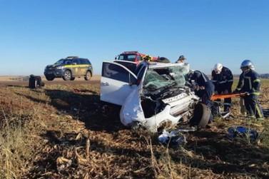Morre bebê resgatado de carro envolvido em acidente em Guaíra