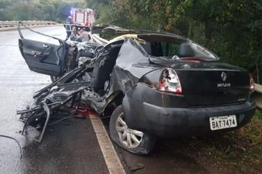 Pista molhada causa acidentes envolvendo veículos de Umuarama na PR-487