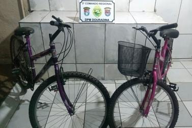 Polícia Militar recupera bicicletas furtadas em Douradina