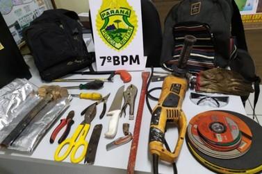 Polícia evita furto a banco em Cruzeiro do Oeste e prende dois suspeitos