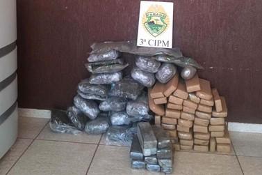 Polícia apreende quase 50 kg de maconha em Querência do Norte