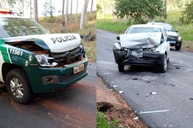 Homem morre em acidente envolvendo viatura da Polícia Ambiental em Douradina