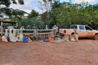 Operação fiscaliza pesca ilegal durante o período de estiagem no Rio Ivaí