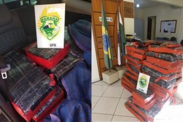 Polícia apreende mais de 550 quilos de maconha após acidente em Pérola