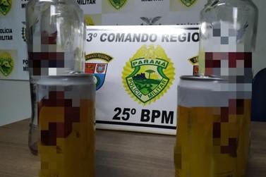 Polícia fecha festa com menores consumindo bebidas alcoólicas em Ivaté
