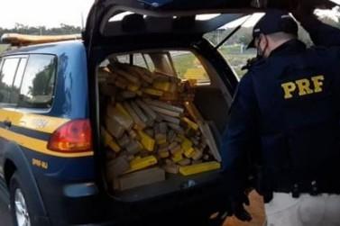 PRF prende casal transportando mais de 300 quilos de maconha em Alto Paraíso