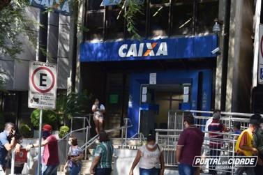 Caixa de Umuarama abre neste sábado para pagamento do auxílio emergencial