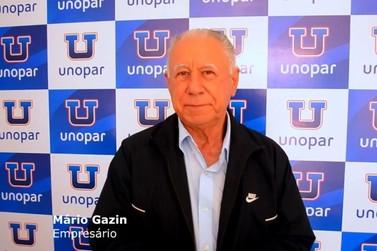 Mário Gazin visita Unopar em Douradina e declara apoio a Universidade