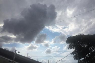 Defesa Civil emite alerta de chuva forte e vendaval para região