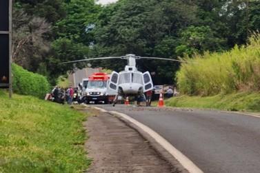 Motociclista fica em estado grave após acidente entre Tapira e Cidade Gaúcha