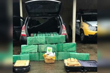Mulher é presa pela PM com mais de 270 kg de maconha em Douradina