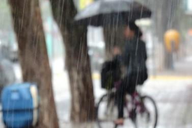 A previsão é de chuva intensa até sábado em Douradina