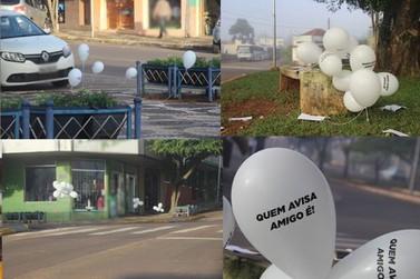 Cruzeiro do Oeste amanheceu coberta por balões