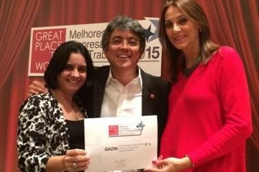 Gazin é eleita a 4ª Melhor Empresa para se Trabalhar na América Latina 2015
