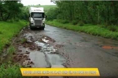 Pesquisa aponta a rodovia entre Mariluz e Umuarama entre as piores do Paraná