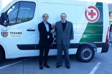 Douradina ganha ambulância através de emenda do Deputado Jonas Guimarães