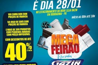 Gazin realiza Mega Feirão com produtos a preços de fábrica em Douradina