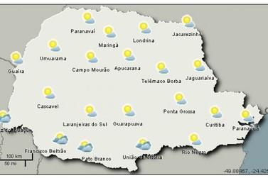 Tempo muda no Paraná a partir desta terça-feira