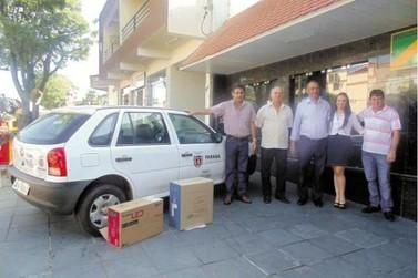 Detran de Douradina recebe carro e computador