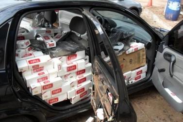 Policia Rodoviária de Iporã apreende veículo carregado de cigarro na PR 323