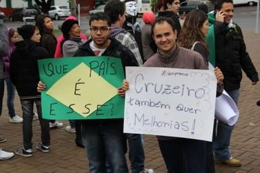 Protesto em Cruzeiro do Oeste